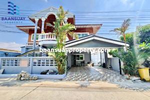 For RentHouseChengwatana, Muangthong : 2 storey detached house for rent, ready to move in, Chaengwattana Road, near Central Chaengwattana.