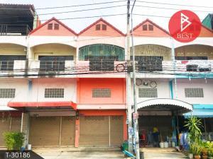 For SaleShophousePattaya, Bangsaen, Chonburi : 3-storey commercial building for sale on the road, Phan Thong District, Chonburi Province