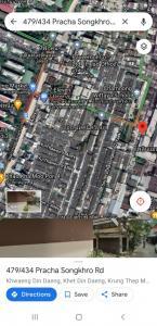 ขายตึกแถว อาคารพาณิชย์รัชดา ห้วยขวาง : ขายตึกแถวดินแดง 3 ชั้น+ดาดฟ้า จอดรถหน้าบ้านสะดวกมีหลังคาทำใหม่คลุมกันแดดกันฝน แถมกล้องวงจรปิดและเฟอร์ฯ