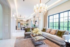 For SaleHousePattanakan, Srinakarin : POJ 233 Super luxury mansion for sale, Baan Sansiri Pattanakarn 30 project, fully furnished, ready to move in.