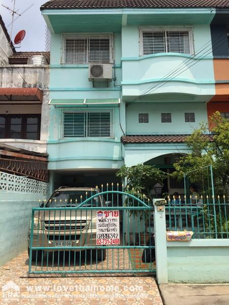 For SaleTownhouseKasetsart, Ratchayothin : 3-storey townhouse for sale in Prasert-Manukit Road, 29, 4 intersection, Paradise Ville Village Area 27 sq.m. Ready to move in, free furniture, free air conditioner