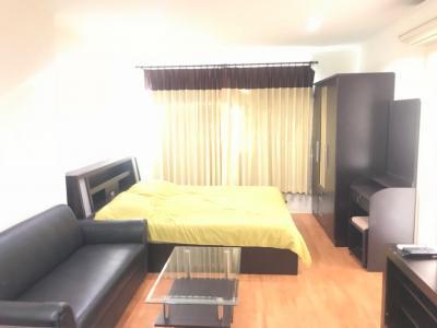 For RentCondoRamkhamhaeng, Hua Mak : Condo for rent, Lumpini Ville Ramkhamhaeng 44, size 32. sqm, 11th floor, fully furnished, fully electric, 7500 THB