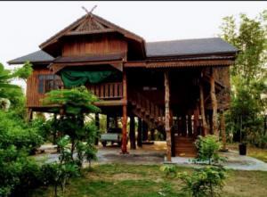For SaleHouseMukdahan : House for sale, house next to the Mekong River, 1 rai 1 ngan 76 square wa