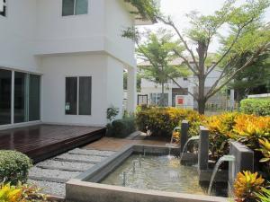 เช่าบ้านพระราม 9 เพชรบุรีตัดใหม่ : ให้เช่าบ้านเดี่ยว บ้านใหม่ หมู่บ้านเนอวานา พระราม 9 NIRVANA RAMA 9  Tel  : 094-3546541  Line :  @luckhome  รหัส : LH00252