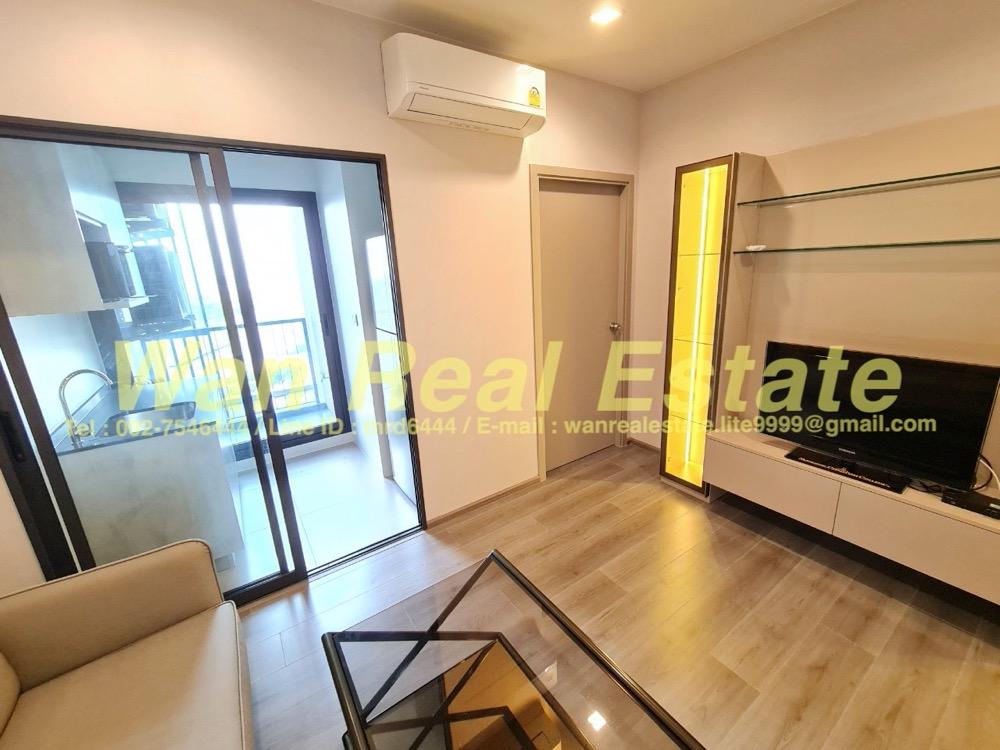 For RentCondoRattanathibet, Sanambinna : For rent, politan aqua condo, 39th floor, size 30 sq m, river view, new room, never entered.