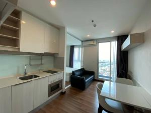For RentCondoBang Sue, Wong Sawang : C1078 Chewathai Tao Poon for rent, near Gateway # Negotiable # There is a washing machine, 1 bedroom room, size 28 sq m, room divider, 14th floor, open view.