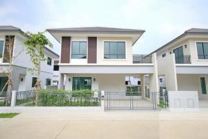 For RentHouseBangbuathong, Sainoi : RHT465 2 storey detached house for rent, Modi Villa Village, Chaiyapruek