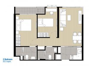 Sale DownCondoPinklao, Charansanitwong : Sale down payment IDEO Charan 70 room size 55.5 sqm.