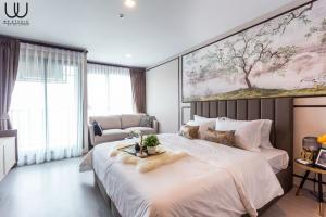 For RentCondoLadprao, Central Ladprao : P0025 Life Ladprao Condo for rent, new room, beautiful decoration, ready to move in.