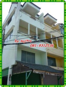 For RentShophouseChengwatana, Muangthong : 3.5 storey commercial building for rent, corner room, near Makro, Chaengwattana-Pak Kret Road 36