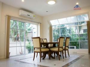 For RentHouseRamkhamhaeng Nida, Seri Thai : 2 storey house for rent, 3 bedrooms, 3 bathrooms, Manthana, On Nut ring, Sukhaphiban 2 road, close to the club