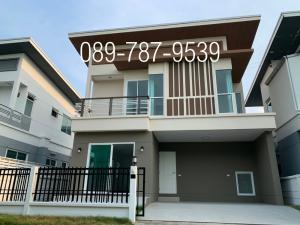 For SaleHouseRattanathibet, Sanambinna : Twin house for sale, drop down, loan fully 100% , ready to move in The Rich Ville Ratchapruek - Rattanathibet near the Bang Rak Yai MRT station