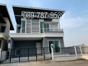 For SaleHouseRattanathibet, Sanambinna : Detached house for sale, dropped down, loan full 100%, corner house, The Rich Ville Ratchaphruek-Rattanathibet near the Bang Rak Yai MRT station.