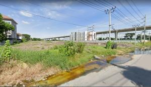 For SaleLandLadkrabang, Suwannaphum Airport : The cheapest land for sale on Chaloem Phra Kiat Rama 9 Road (On Nut-Ladkrabang).