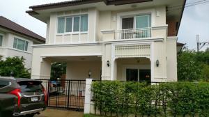 For SaleHouseRattanathibet, Sanambinna : House for sale, corner, centro, Rattanathibet, near Wat Suan Kaew