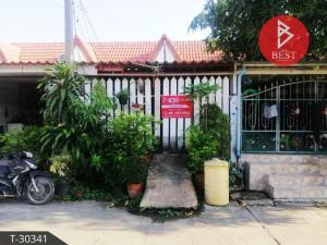 For SaleTownhouseSamrong, Samut Prakan : Single storey townhouse for sale. Thai Somboon Village, Pracha Uthit 90, Samut Prakan