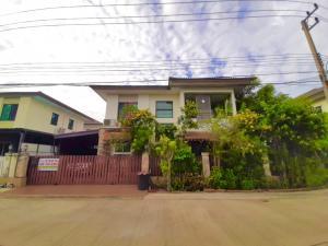 For SaleHouseRangsit, Patumtani : 2 storey house for sale Pruksa Village Delight 21 Lam Luk Ka Khlong Si near BTS Khu Khot station, 4 bedrooms