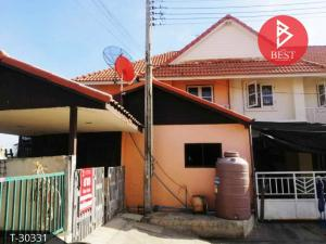 For SaleTownhouseChachoengsao : 2 storey townhouse for sale Pruksa Village 27 On Nut - Ladkrabang, Klong Udom Chon Chachoengsao