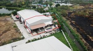For SaleWarehouseSamrong, Samut Prakan : Warehouse for sale in an area of 3 ngan, 27 square meters, Bang Pla Subdistrict, Bang Phli District, Samut Prakan Province