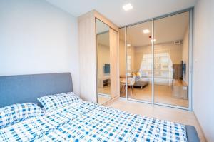 For RentCondoRangsit, Patumtani : ✅ For rent, Plum Condo Rangsit Alive, size 26.80 sq.m., with furniture and appliances ✅