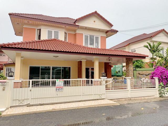 For SaleHousePattaya, Bangsaen, Chonburi : House for sale 2-storey, Grand Lakes Lake and Garden, Ban Suan, Chonburi, near Motorway, near Ban Bueng