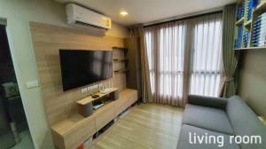 For RentCondoOnnut, Udomsuk : For rent Moniiq Condo 2 bedrooms, 2 bathrooms, special corner room, not next to anyone. Privacy and peace and quiet with built-in furniture. And complete electrical appliances Can move in immediately Japanese style condo