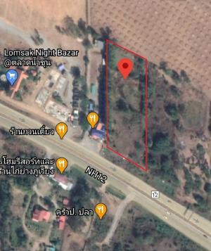 For SaleLandPhetchabun : Land for sale in Lom Sak near Asean intersection.