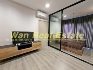 For RentCondoRattanathibet, Sanambinna : Condo for rent, politan rive, 39th floor, size 30 sq m, river view, beautiful decoration (with washing machine)