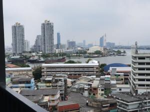 For RentCondoWongwianyai, Charoennakor : For rent, Niche Mono Charoennakorn (Charoen Nakhon 76), next to Charoen Nakorn Road Condo with the most beautiful river view Giving a view over 360 degrees, supporting 3 GEN, near AVANI, ICON SIAM, Bukkalo Office, Big C, Dao Khanong, meeting room 085-689-
