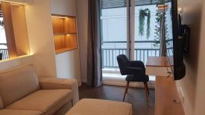 For RentCondoSukhumvit, Asoke, Thonglor : Condo for rent, Grand Park View Asoke, beautiful, large room, 41 sqm., near SWU, near Terminal 21, near MRT, BTS