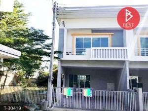 For SaleTownhousePattaya, Bangsaen, Chonburi : 2 storey townhome for sale, Fa Burin Village, Soi Ally Bowin, Sriracha District, Chonburi Province