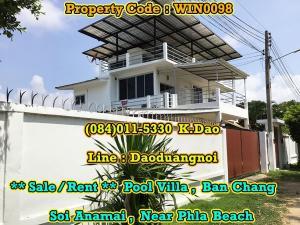 For RentHouseRayong : +++ Pool Villa +++ Ban Chang, Soi Anamai, Near Phla Beach *** Sale/Rent ***