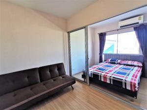 For SaleCondoBangbuathong, Sainoi : Urgent sale, Plum Condo, Bang Yai Station, fully furnished, on 8th floor, beautiful view.