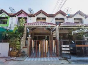For RentTownhouseBangna, Lasalle, Bearing : For Rent 2-storey townhouse for rent, Soi Bangna-Trad 56, Soi Nation, with furniture, 4 air conditioners, housing or as a company registered office