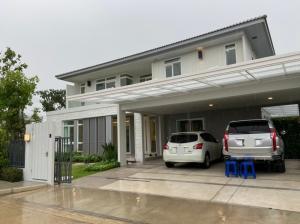 For RentHouseBangna, Lasalle, Bearing : For Rent Single House, Corner Manthana, Bangna Ring Road, Ramkhamhaeng 2 (PST Ann205)