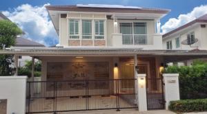 For RentHousePattanakan, Srinakarin : 2 storey detached house for rent, beautiful new, located at Manthana Krungthep Kreetha.