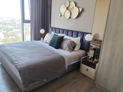 For RentCondoOnnut, Udomsuk : 2397-A😊 For RENT 2 bedroom for rent 🚄 near BTS Punnawithi 🏢 Whizdom Essence Whizdom Essence🔔 Area: 55.00 sq.m. 💲 Rent: 37,000 ฿ 📞O86-454O477, O99 -5919653✅LineID: @sureresidence