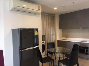 For RentCondoRama9, RCA, Petchaburi : Condo for rent: Rhythm Asoke2 (Rhythm Asoke 2) near MRT Rama 9, 2 bedrooms, 43 sqm., Fully furnished.