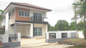 For SaleHouseRangsit, Patumtani : (Owner) 2 storey detached house, Pornpiman Ville Village, near Lotus, Khlong Si, area 53.5 square wa, 3 bedrooms, 2 bathrooms, corner plot, for sale by owner.