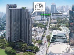 For SaleCondoWitthayu, Chidlom, Langsuan, Ploenchit : Reduce the force over COVID 🔥Life 1 Wireless 1 bed 35.4 sq m, only 5.5 million baht‼ ️‼ ️ very good value, mom 💥💥