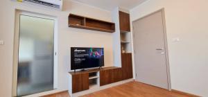For RentCondoPinklao, Charansanitwong : For rent, D Condo Than Charan, condo style, Baan Suan Rim Nam, new studio room 25 sqm., 8th floor, Building B, North