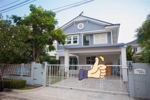 For RentHouseBangna, Lasalle, Bearing : Chaiyapruek Bangna Km.7 New house, good condition, great price for rent.,near mega bangna