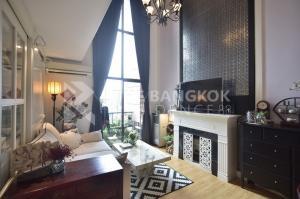 For RentCondoRama9, RCA, Petchaburi : Duplex Best Price!! 2B2B Super Luxury Condo for Rent Near MRT Phetchaburi - Villa Asoke @42,000 Baht/Month