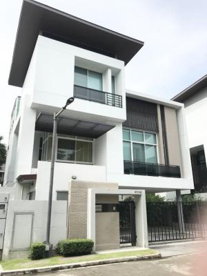For SaleHousePattanakan, Srinakarin : 3-storey detached house for sale, Nirvana Beyond Rama IX - Ramkhamhaeng, size 62.6 sq m, in front of the project on the main road.