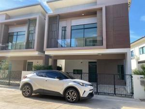 เช่าบ้านบางใหญ่ บางบัวทอง ไทรน้อย : RHT470ให้เช่าบ้านเดี่ยวบ้านแฝด 2 ชั้นโครงดารS-gate premium ซอยกันตนา บางใหญ่