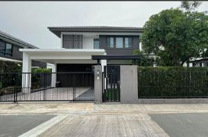For RentHouseBangna, Lasalle, Bearing : RH547 for rent and sale, 4 bedrooms, 3 bathrooms, 1 kitchen, 1 multipurpose room Next to the house, add a roof, Manthana, Bangna Km.7