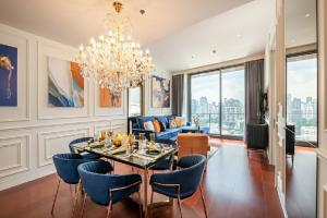 For RentCondoSukhumvit, Asoke, Thonglor : Luxury condo for rent The heart of Thonglor area. 2 bedrooms, 2 bathrooms, fully furnished, ready to move in !!