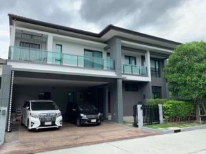 For RentHouseSamrong, Samut Prakan : House for rent, beautifully decorated 5 bedrooms, The City Bangna - Km 7, City Bangna 375 sq m, 89 sq m, behind Mega Bangna, behind the corner