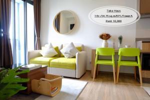 For RentCondoSukhumvit, Asoke, Thonglor : Rent - Taka Hasu / 1 bedroom / 34.75 sq.m. / 6th floor near BTS Ekkamai, rent 18,000