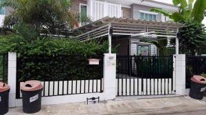 For RentTownhousePattaya, Bangsaen, Chonburi : E406 Townhome for rent, Pruksa Ville 71/1 Laem Chabang-Banglamung, fully furnished.